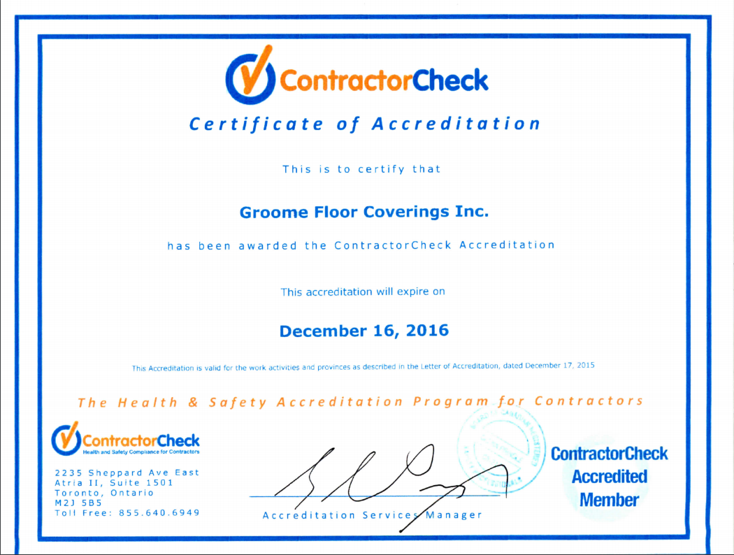 Welcome to Groome Floor Coverings Inc.